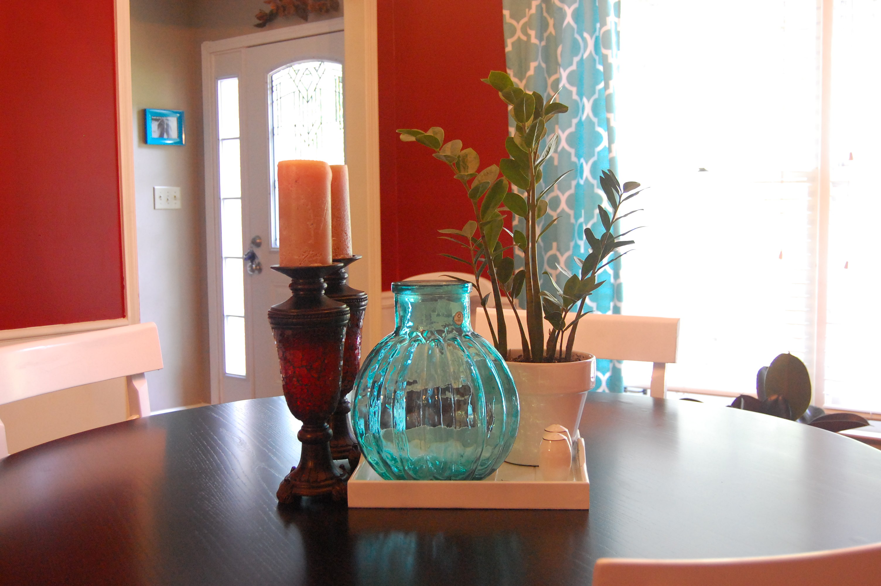 Red And Turquoise Living Room Remodelaholic New Look For The Dining Room