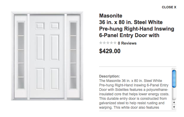 Home Depot Doors Interior Pre Hung From The Home Depot In X In Lite Primed Double Prehung