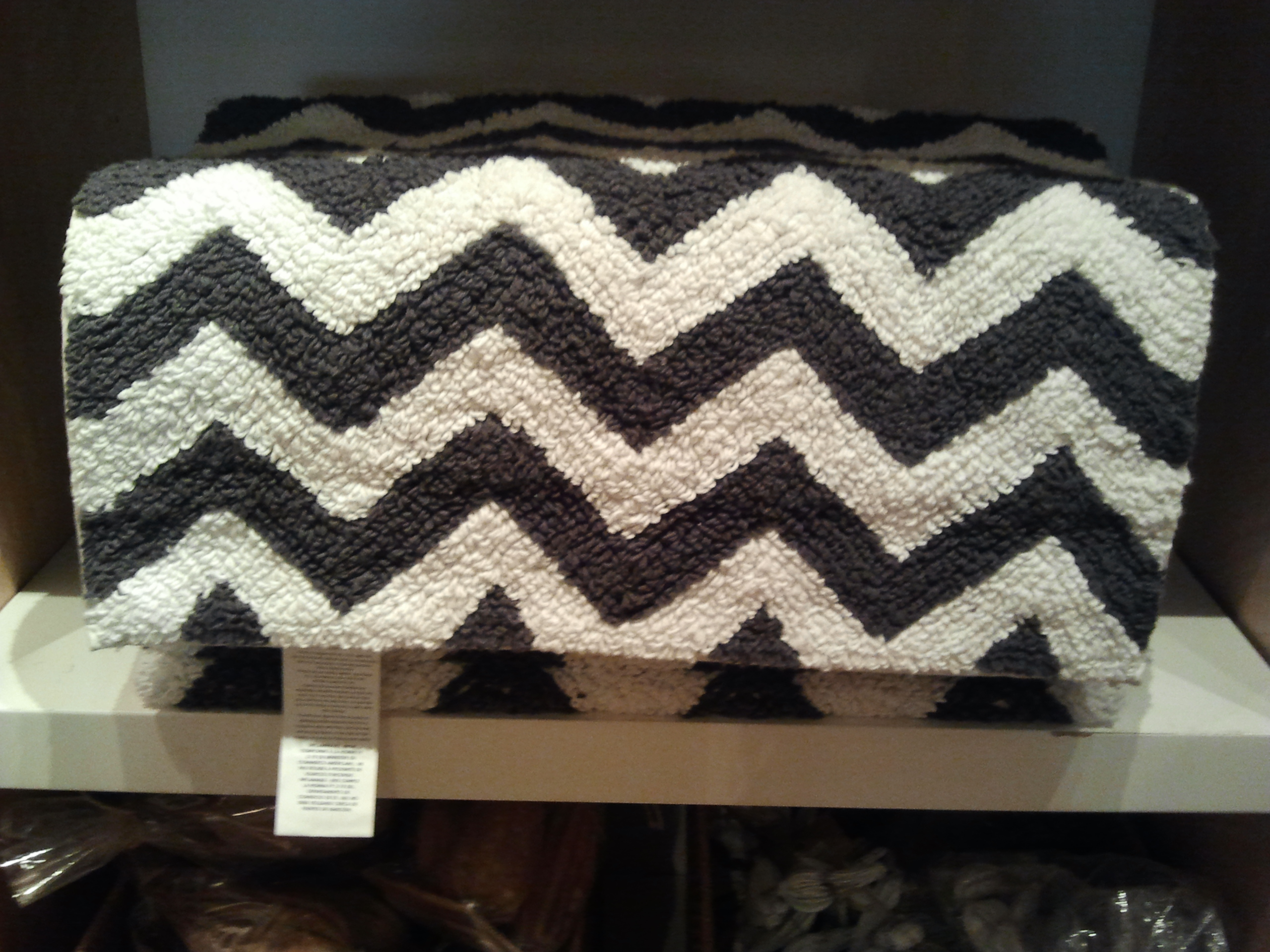 Chevron Bathroom Rug Designs
