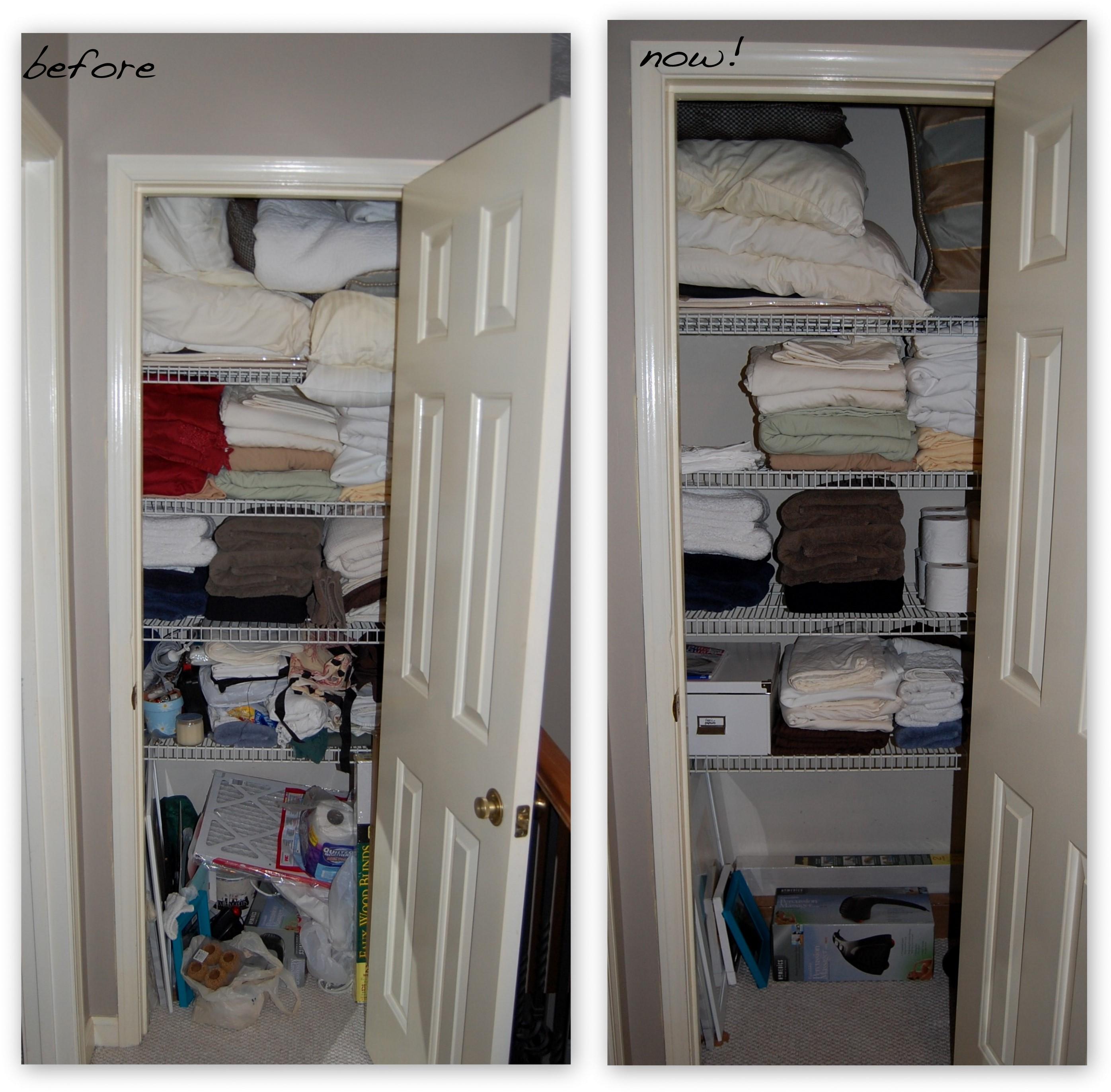 Closet organization for Bathroom closet ideas pictures