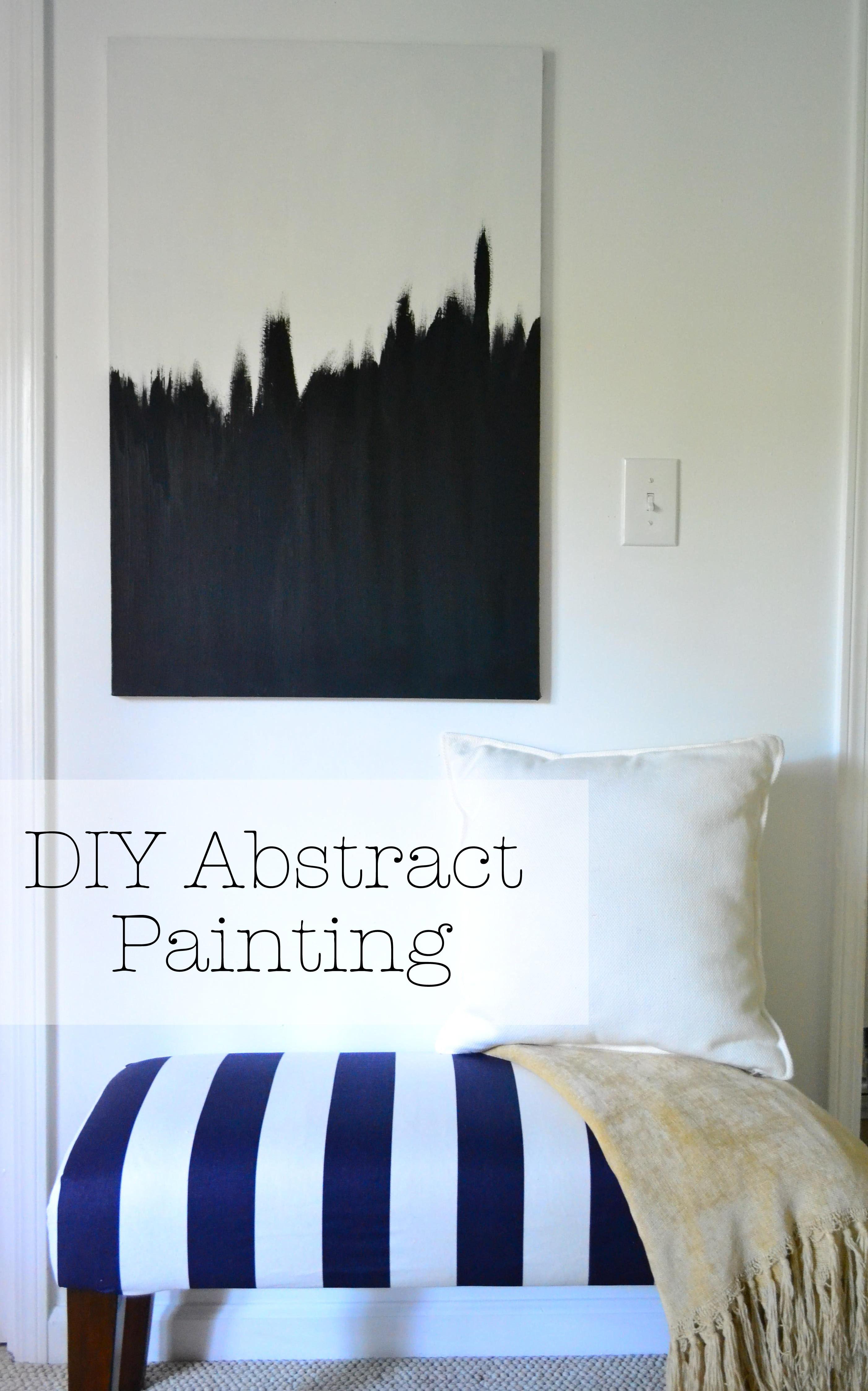 Diy abstract art for Diy abstract wall art
